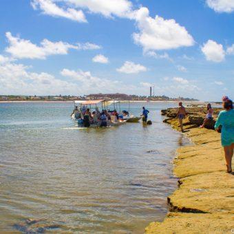Aquário natural na Barra de São Miguel