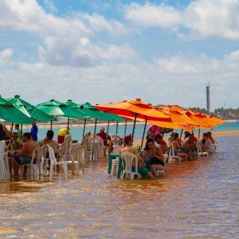 Banco de areia na Barra de São Miguel
